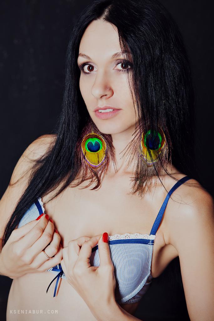 Фотосессия девушки в студии, Фотосессия ню