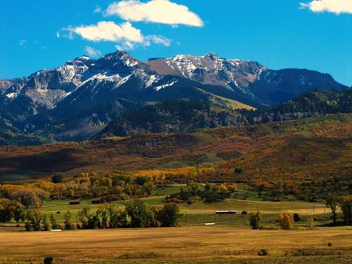 autumn mountain snow rural colorado seasons ridgway