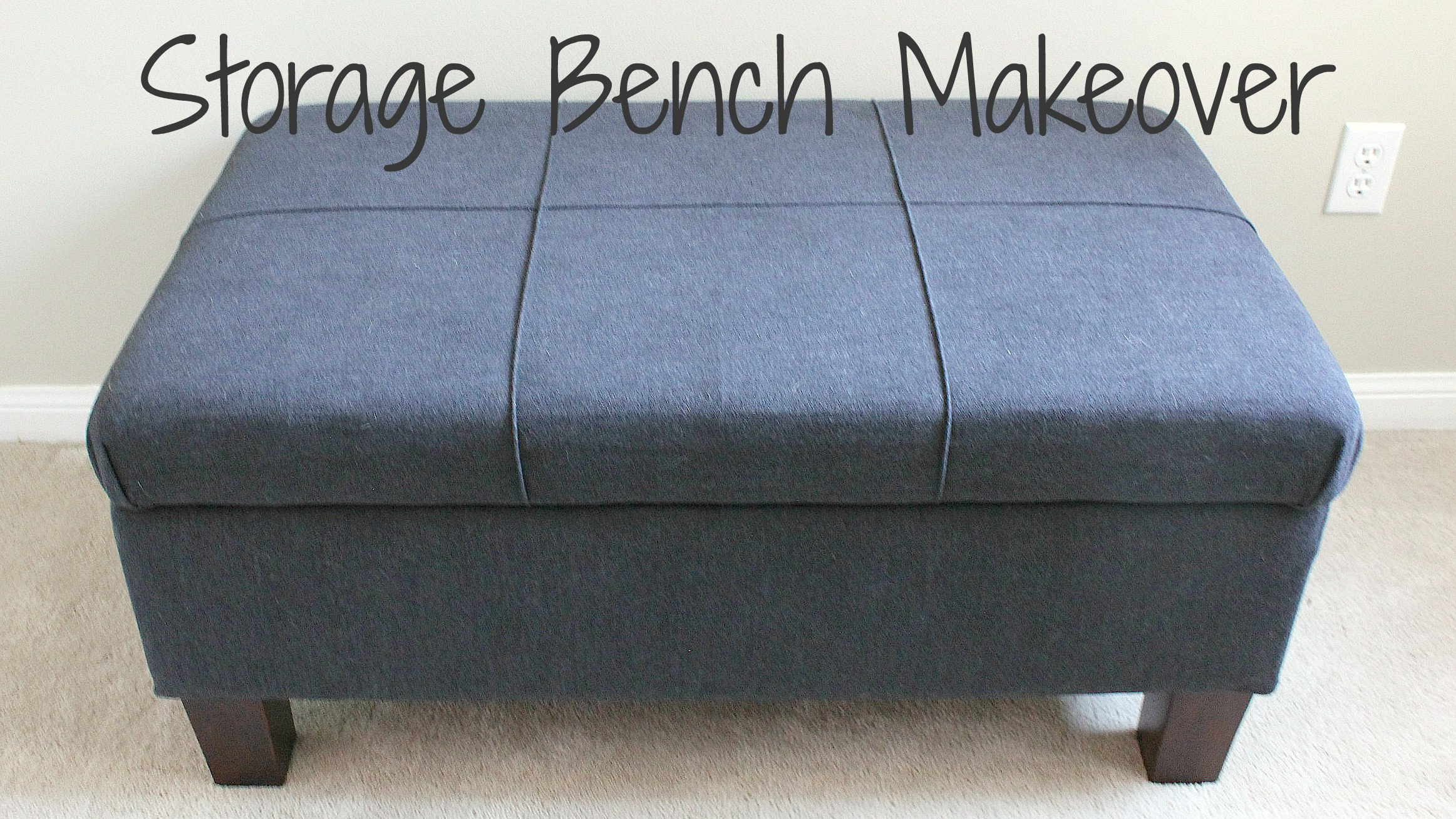 storage bench makeover