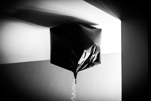 black cube balloon