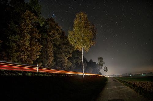 Königsdorf Hauptstraße Lightpainting