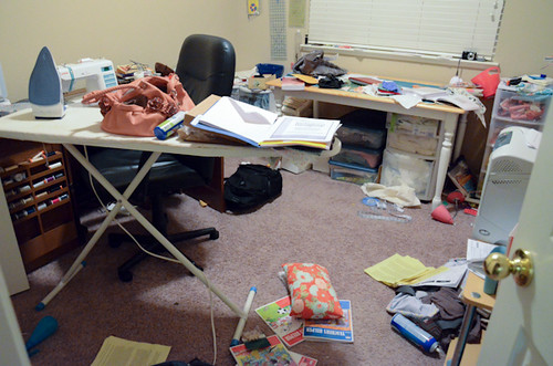 Craft room exploded