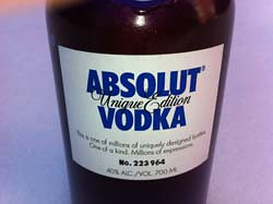 Etiquette Absolut Unique