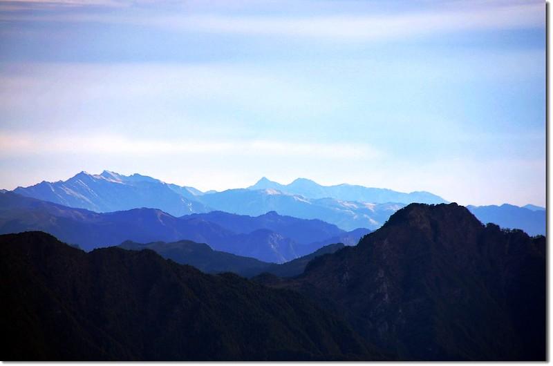 中央山脈群峰(馬西山北望,右下為丹大山) 4