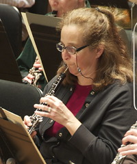 Sharon Possick-Lange, a 29-year ISO veteran, practices oboe during rehearsal.