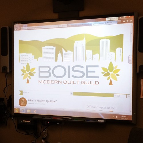 Unveiled the new Boise Modern Quilt Guild website today! #boisemqg #mqg #boise