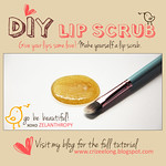 DIY lip scrub by Zelanthropy