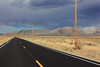 Road to South Mono Lake with storm clouds. Oct 9, 2013