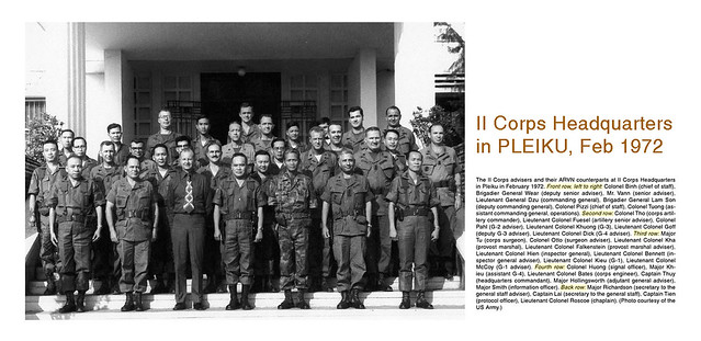 II Corps Headquarters in Pleiku, 1972