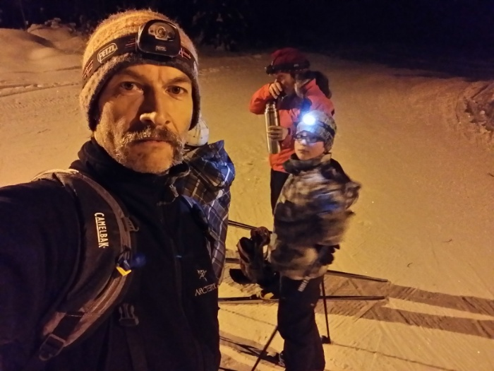 An hour of night laps with the kids up at Blackjack. Kinda chilly so we were moving fast.
