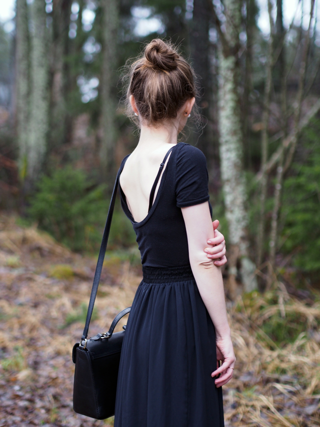 american apparel maxi skirt black
