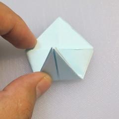 การพับกระดาษรูปดอกมอร์นิ้งกลอรี่ (Origami Morning Glory – アサガオの折り紙) 007