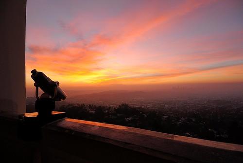 skyline sunrise work la before