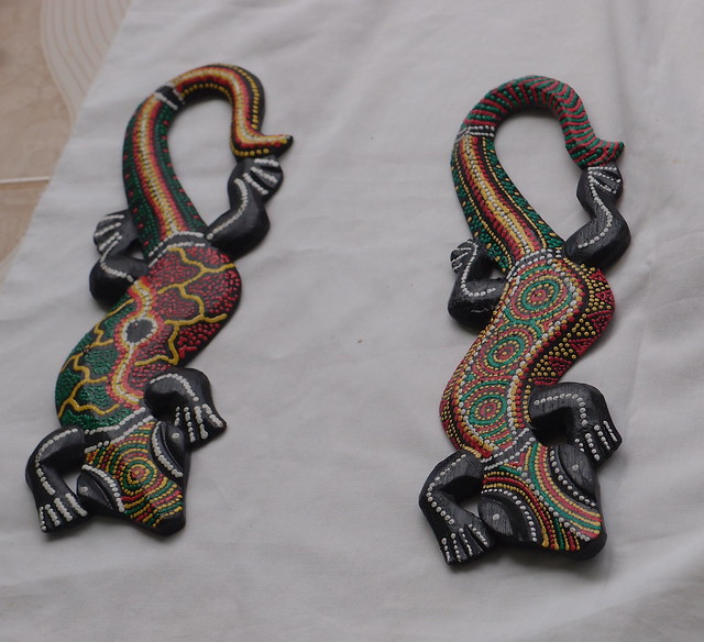Hand-painted crocodiles