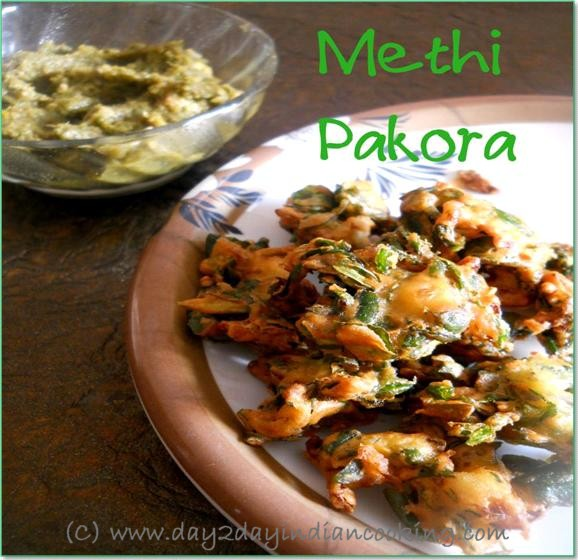 recipe of making methi pakora
