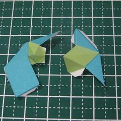วิธีทำของเล่นโมเดลกระดาษรูปนก (Bird Paper craft ) 009