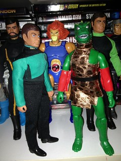 Mego Star Trek custom TNG McCoy and EMCE Gorn