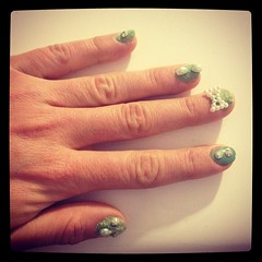 Playing with my green Nail Rockit...