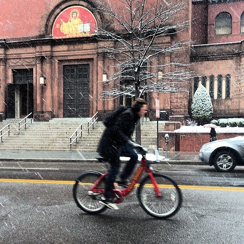 Bikeshare past St Matthew's
