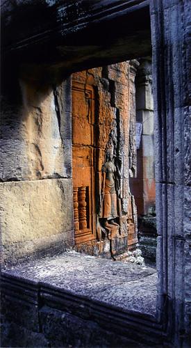 window at Angkor Wat, Cambodia