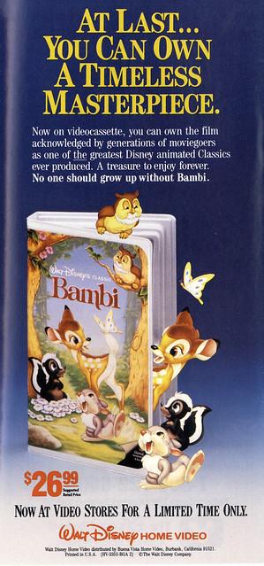 Bambi VHS ad, 1989 | Flickr - Photo Sharing!