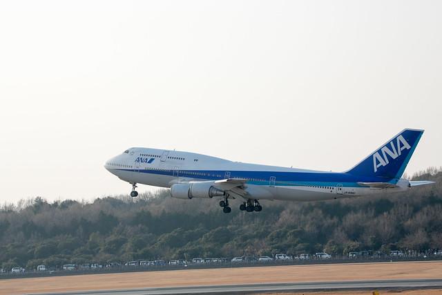 ANA B747 さよならフライトチャーター