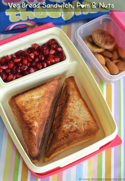 Veg Bread Sandwich,Fruits & Nuts