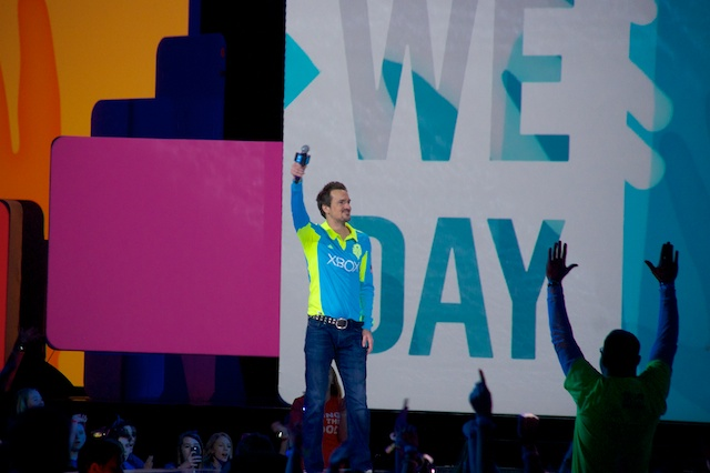 Roger Levesque at We Day Seattle