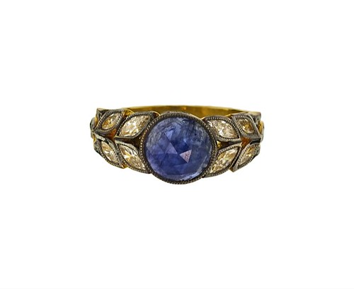 Cathy Waterman sapphire ring Twist