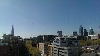 Not a cloud in the sky over London