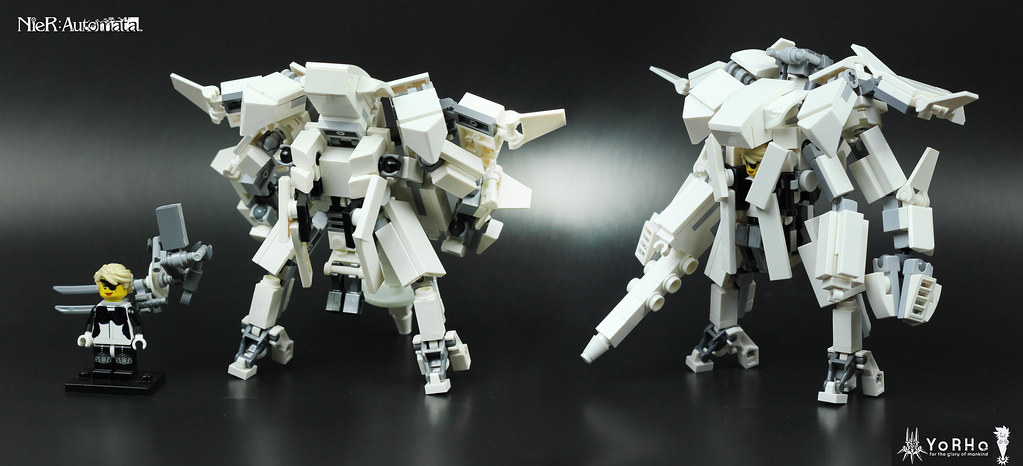 2B´s YorHaFlying unit (custom built Lego model)