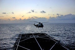 SH-3D takes off from ESPS Galicia