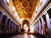 San Crisogono Church in Rome (1123-1129) with classical columns and wooden-gilded ceiling (1620-1626)
