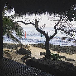 """My meditation area at Bolinao, last Holy Week. In a question on social media about meditation, Aurora Clawson wrote (rephrased for brevity by me): """"It is our authentic nature to be high, free, light, happy, creative, loving and intelligent. One gravi"""