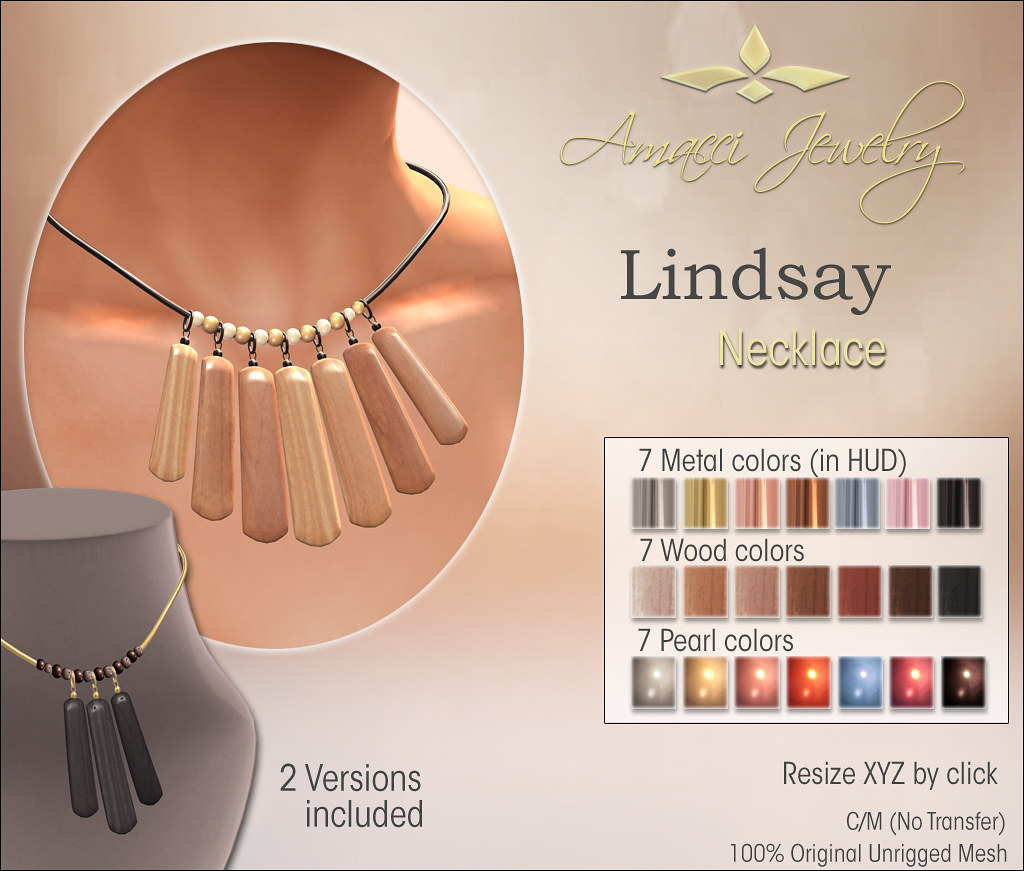 Amacci Lindsay Necklace - SecondLifeHub.com