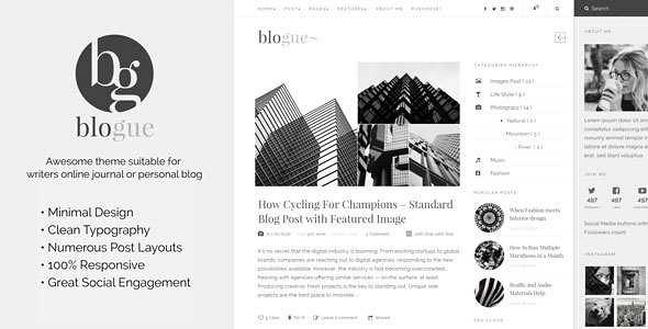 Blogue WordPress Theme free download