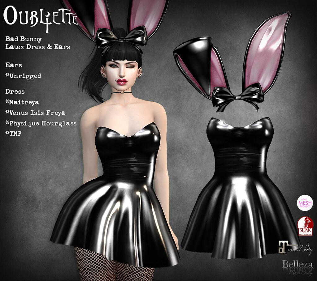 Oubliette- Bad Bunny Latex Outfit - SecondLifeHub.com