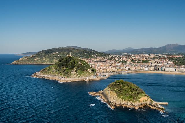 San Sebastián, Spain from Monte Igueldo