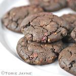 Gluten free raspberry & dark chocolate cookie recipe