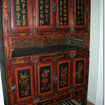 Antique Asian clothing storage cabinet