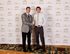 Mike O'Kronley (left) of A123 Systems with 2nd Place A123 Systems award winner, Embry-Riddle