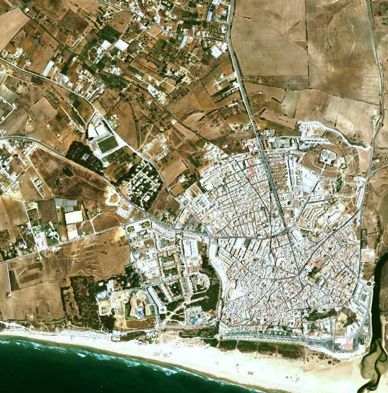 playa, litoral, conil, conil de la frontera, málaga, andalucía, 2002, antes, desastre, urbanístico, planeamiento, urbano, construcción, urbanismo