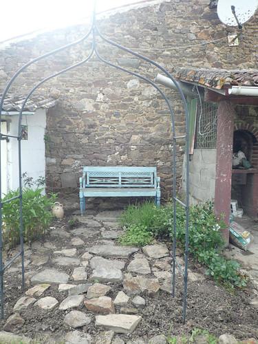 Bench garden weeded
