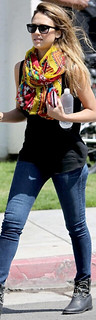 Jessica Alba Studded Biker Boots Celebrity Style Women's Fashion