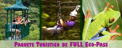 Costa Rica Full Eco Pass Tour Package