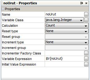 noUrut properties
