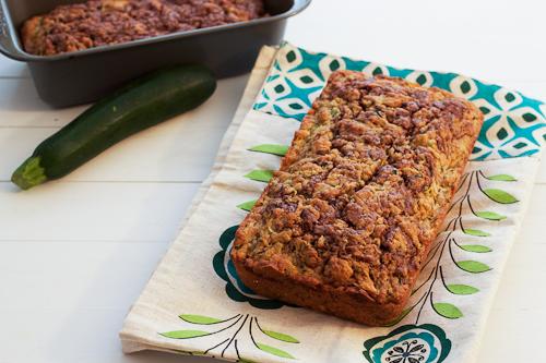 Nutella Swirl Zucchini Bread