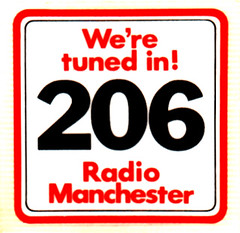 BBC Radio Manchester car sticker 1973