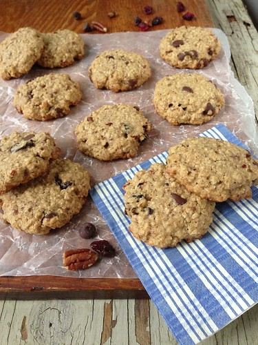 Cherry Chocolate Oatmeal Cookies