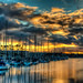 Marina Del Rey Sunset by Ken Shelton